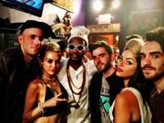 Miley Cyrus at Juicy J�s Concert in LA 6/8/13