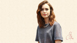 Lily Collins - HD Wallpaper made from latest candids !
